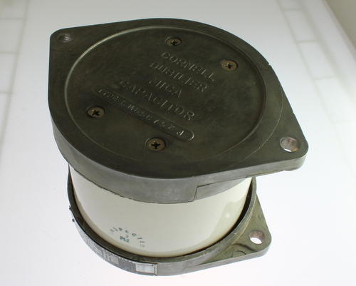 Picture of CM85C752J CDE capacitor 0.0075uF 10000V Silver Mica Transmitting