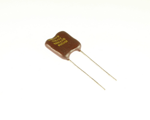 Picture of CM07FD752J03 GENERAL INSTRUMENT capacitor 0.0075uF 500V Silver Mica Dipped