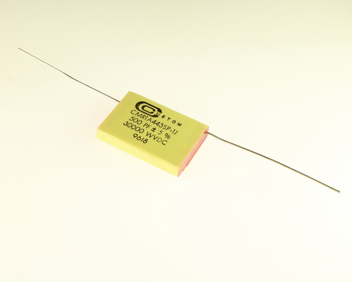 Picture of CMR1A443SP-1J CUSTOM capacitor 500pF 30000V Film Polyester Axial