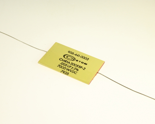 Picture of CMR1A3005SP-2 CUSTOM capacitor 0.005uF 7000V Film Polyester Axial