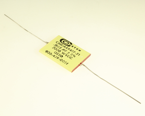 Picture of CMR1A494SP-51 CUSTOM capacitor 0.005uF 7000V Film Polyester Axial