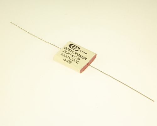 Picture of CGR1A502103K CUSTOM capacitor 0.01uF 5000V Film Polyester Axial