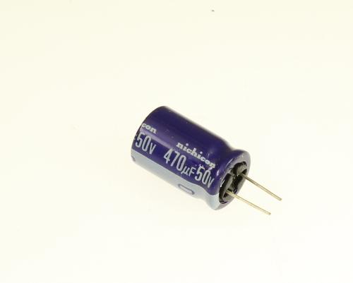 Picture of UVX1H471MHA NICHICON capacitor 470uF 50V Aluminum Electrolytic Radial