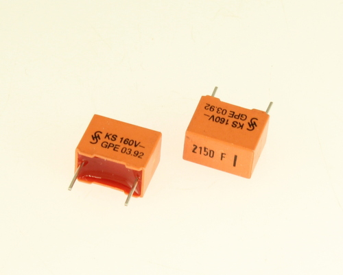 Picture of B31521-B1212-F500 SIEMENS capacitor 0.00215uF 160V Box Cap metalized polyester