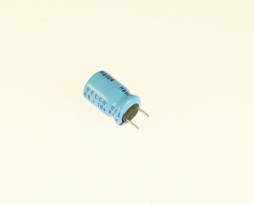 Picture of ER686M10V8X1285 DELCO capacitor 68uF 10V Aluminum Electrolytic Radial