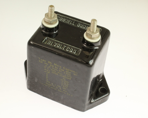 Picture of 21D-86 Cornell Dubilier (CDE) capacitor 0.001uF 3500V Silver Mica Transmitting