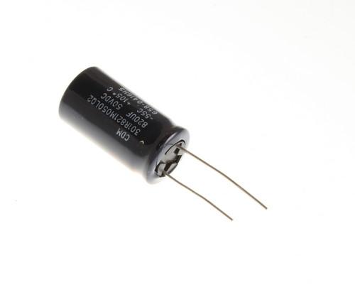 Picture of 301R821M050LQ2 CDE capacitor 820uF 50V Aluminum Electrolytic Radial High Temp