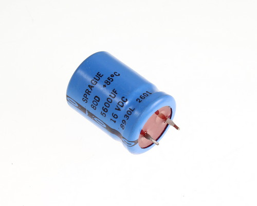 Picture of 80D562P016JB2D SPRAGUE capacitor 5,600uF 16V Aluminum Electrolytic Snap In