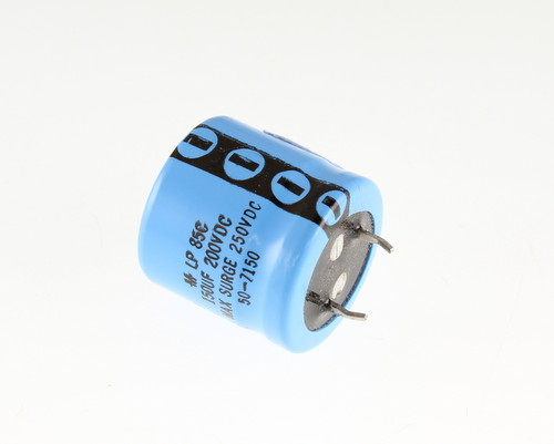 Picture of LP151M200C1P MALLORY capacitor 150uF 200V Aluminum Electrolytic Snap In
