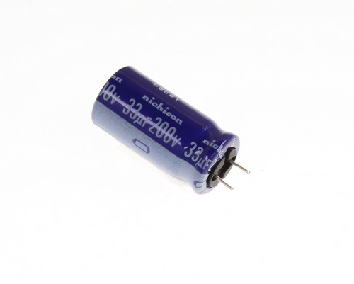 Picture of UVX2D331MCD NICHICON capacitor 33uF 200V Aluminum Electrolytic Radial