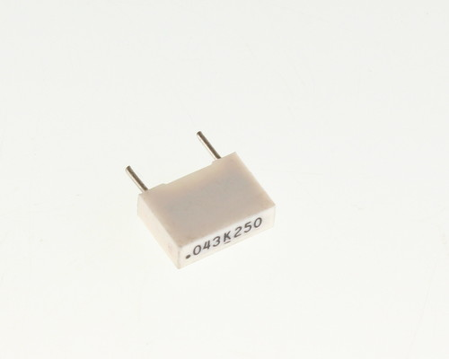 Picture of 160433K250C MALLORY capacitor 0.043uF 250V Box Cap metallized polyester