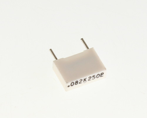Picture of 160823K250C MALLORY capacitor 0.082uF 250V Box Cap metallized polyester