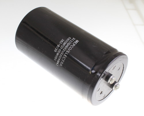 Picture of 3112GH682U100AMA1 Mepco / Electra capacitor 6,800uF 100V Aluminum Electrolytic Large Can Computer Grade