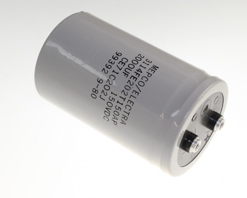 Picture of 3114FE202T150AP Mepco / Electra capacitor 2,000uF 150V Aluminum Electrolytic Large Can Computer Grade