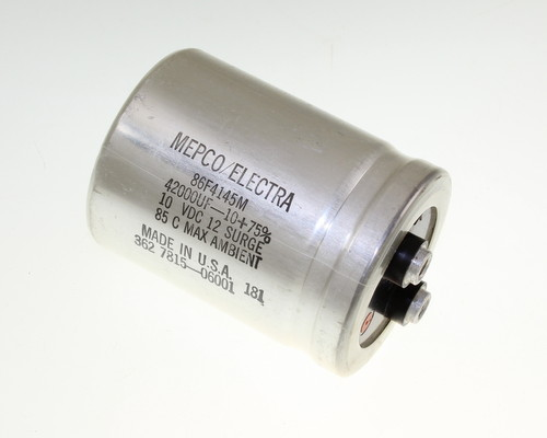 Picture of 86F4145M PHILIPS capacitor 42,000uF 10V Aluminum Electrolytic Large Can Computer Grade