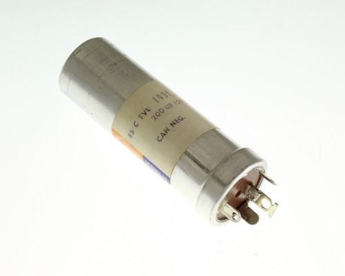 Picture of TVL1431.1 SPRAGUE capacitor 200uF 150V Aluminum Electrolytic Large Can Twist Lock