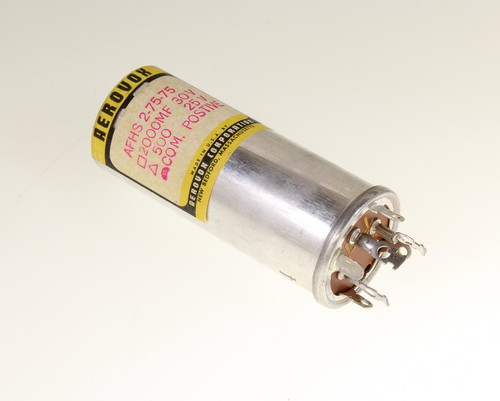 Picture of AFSH2-75-75 capacitor 2,000uF 30V Aluminum Electrolytic Large Can Twist Lock