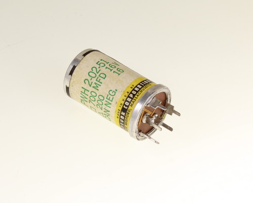 Picture of PWH 2-02-51 AEROVOX capacitor 700uF 16V Aluminum Electrolytic Large Can Twist Lock