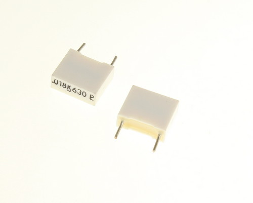 Picture of 160183K630D PHILIPS capacitor 0.018uF 630V BOX CAP metalized polyester