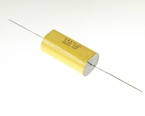 Picture of AM106M400V ITT capacitor 10uF 400V Film Metallized Polyester Axial