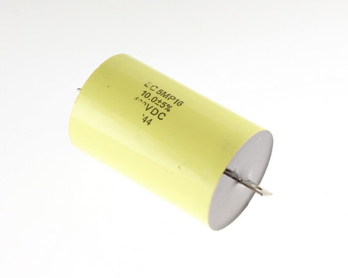 Picture of 5MP16J106J ELECTRONIC CONCEPTS capacitor 10uF 400V Film Metallized Polypropylene Axial