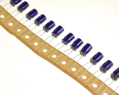 Picture of UVX1V101MPA1TA NICHICON capacitor 100uF 35V Aluminum Electrolytic Radial