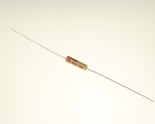 Picture of 663F182K600V TRW capacitor 0.0018uF 600V Film Polyester Axial
