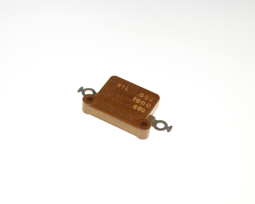 Picture of TYPE-M1L SANGAMO-CDE capacitor 0.002uF 600V silver mica transmitting