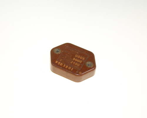 Picture of TYPE-A2L SANGAMO-CDE capacitor 500pF 2500V silver mica transmitting