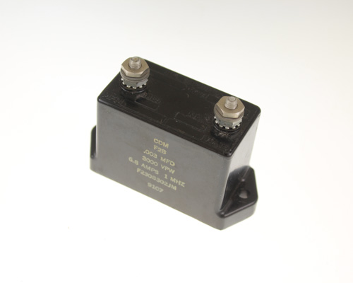 Picture of F230B302JM CDM capacitor 0.003uF 3000V silver mica transmitting