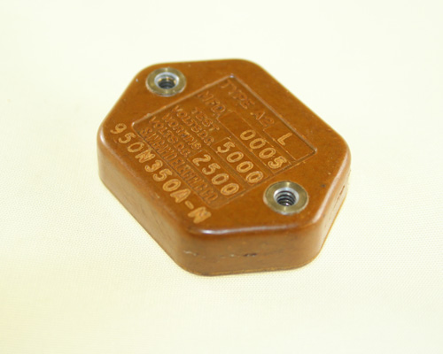 Picture of 950N350A-M SANGAMO-CDE capacitor 500pF 2500V silver mica transmitting