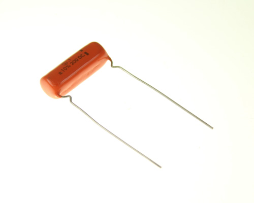 Picture of 2PSP10 SPRAGUE capacitor 0.1uF 200V film polyester radial