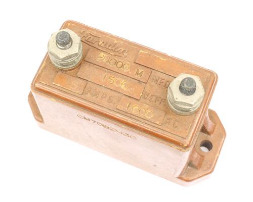 Picture of CM70B243G Faradon capacitor 0.024uF 1500V silver mica transmitting