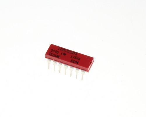 Picture of 14DK2000FA TECHNO resistor 200 Ohm 1%  Network