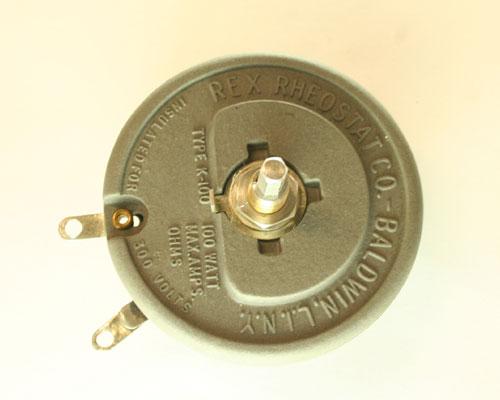 Picture of R20-100W-3/8X1/2F-2L-OFF MALLORY potentiometer 20 Ohm, 100W RHEOSTAT 100 Watt