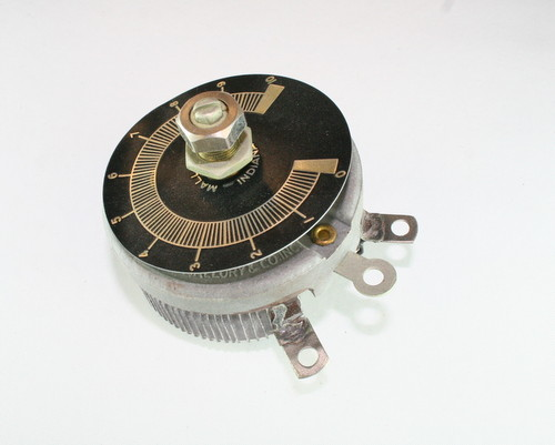Picture of R-35-100-3/8X1/8-S MALLORY potentiometer 35 Ohm, 100W RHEOSTAT 100 Watt