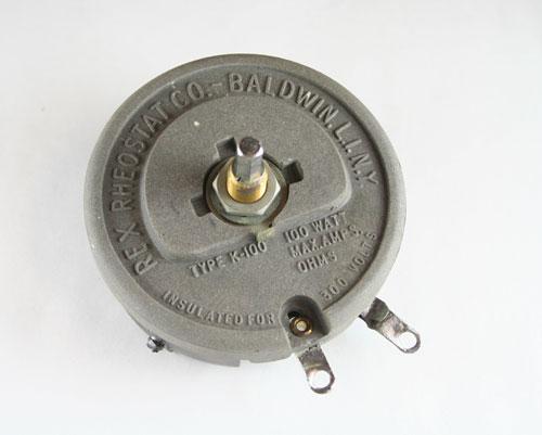 Picture of R-20-100-3/8X1/2-H MALLORY potentiometer 20 Ohm, 100W RHEOSTAT 100 Watt