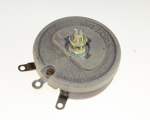 Picture of R200-100W-1/2X1/2-S-LB MALLORY potentiometer 200 Ohm, 100W Rheostat 100 Watt