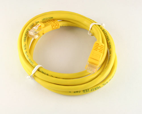 Picture of data cable patch cord 5 ft cables.
