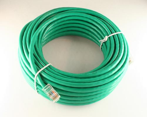 Picture of data cable patch cord 50 ft cables.