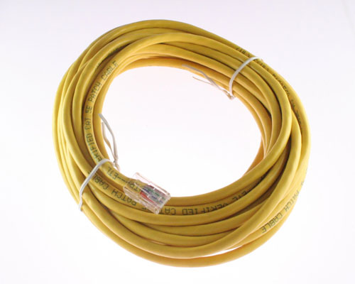 Picture of data cable patch cord 25 ft cables.
