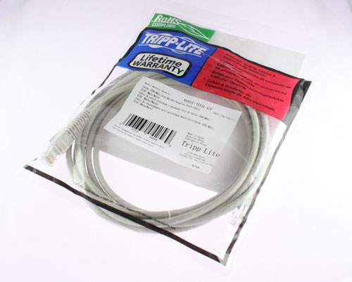 Gray 10-ft N001-010-GY New Cat5e Snagless Patch Cable