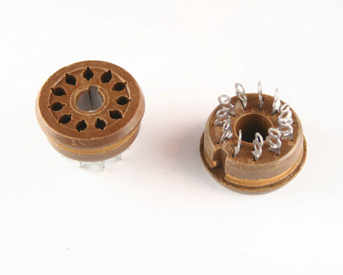 Picture of tubes sockets connectors.