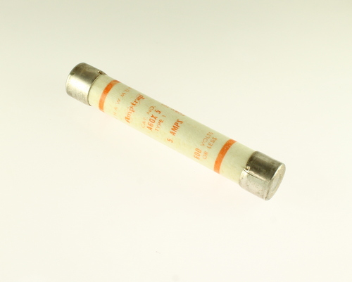 Picture of A60X5 SHAWMUT fuse 5A 600V Cartridge 0.81x5in Time Delay