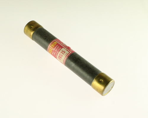 Picture of FRS-15 BUSSMANN fuse 15A 600V Cartridge 0.81x5in Time Delay