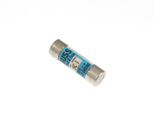 Picture of SC1 EATON BUSSMANN fuse 1A 300V cartridge 0.4x1.31in fast acting