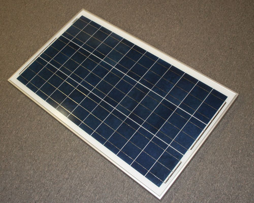 Picture of solar panel power supply.