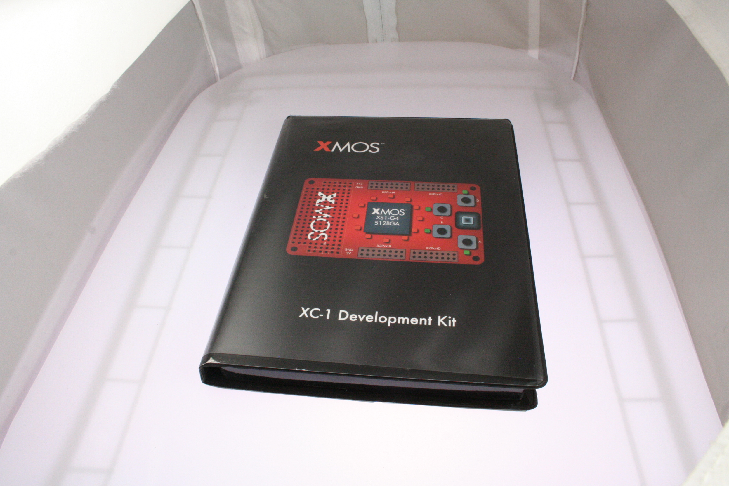 Picture of development xmos kits.